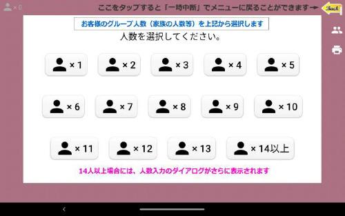 La1画面 1人から13人を選択